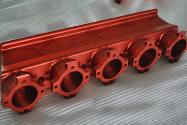 Auto Aluminum Parts Custom CNC Machining Natural Color Anodized Surface Finish
