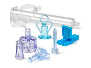 Multi Color Medical Plastic Products , Medical Moulded Products For Iv Infusion Connectors