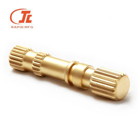 Lathe Machining Turning CNC Turning Parts Copper / Brass Auto Components Durable